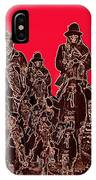 Geronimo And Family Surrendering Collage Number 1 C.s. Fly 1887-2012 IPhone Case