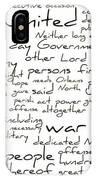 Gettysburg Address-emancipation Proclamation-second Inaugural Address-word Cloud IPhone Case