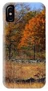 Gettysburg At Rest - Autumn Looking Towards The J. Weikert Farm IPhone Case