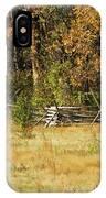 Gettysburg Battlefield October IPhone Case