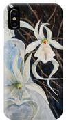 Ghost Orchid Blooming IPhone Case