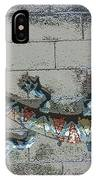 Giant Lizard On A Wall IPhone Case