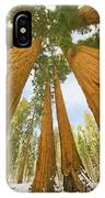 Giant Sequoias And First Snow IPhone Case