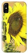 Giant Sunflower With Buds IPhone Case