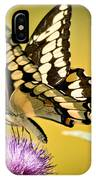 Giant Swallowtail On Thistle IPhone Case