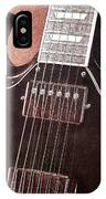 Gibson Sg Standard Red Grunge IPhone Case