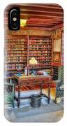 Gillette Castle Library IPhone Case