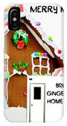 Gingerbread House Xmas Card 2 IPhone Case