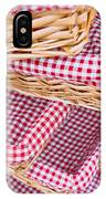Gingham Baskets IPhone Case