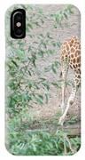 Giraffe Drinking IPhone Case