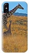 Giraffe Family In Living Desert Museum In Palm Desert-california IPhone Case