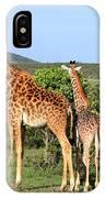 Giraffe Group On The Masai Mara IPhone Case