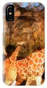 Giraffes At The Zoo IPhone Case