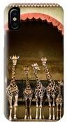 Giraffes Lineup IPhone Case