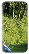 Girl And Dog On Trail IPhone Case