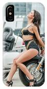 Girl And Motorcycles IPhone Case