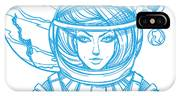 Girl In A Spacesuit For T-shirt Design IPhone X Case
