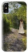 Girl In Country Lane IPhone Case