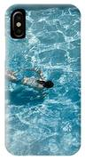 Girl In Pool IPhone Case