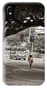 Girl Walk In Park. IPhone Case