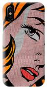 Girl With Hair Ribbon No2 IPhone Case