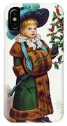 Girl With Holly IPhone Case