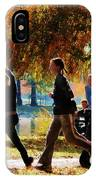 Girls Jogging On An Autumn Day IPhone Case