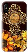 Give Thanks Cross IPhone Case