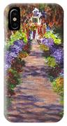 Giverny Gardens Pathway After Monet  IPhone Case