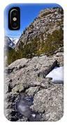 Glacier Gorge Ahead IPhone Case
