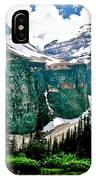 Glaciers Along Plain Of Six Glaciers Trail In Banff Np-alberta IPhone Case