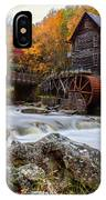 Glade Creek Grist Mill-babcock State Park West Virginia IPhone X Case