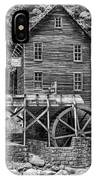 Glade Creek Grist Mill Bw IPhone Case