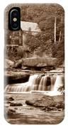 Glade Creek Mill In Sepia IPhone Case