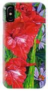 Gladiola And Echinacea IPhone Case