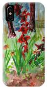 Gladioli-2 IPhone X Case