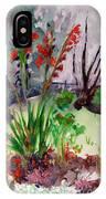 Gladioli-4 IPhone X Case