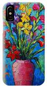 Gladioli In A Vase IPhone Case