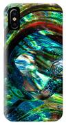 Glass Macro - Blue Green Swirls IPhone Case