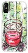 Glass Rosy Wine IPhone Case