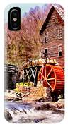 Glen Creek Grist Mill Painting IPhone Case