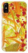 Glory Of The Snow - Lime Green And Orange IPhone Case