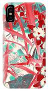 Glory Of The Snow - Red And Turquoise IPhone Case