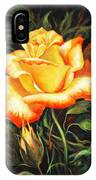 Glowing Rose 2 IPhone Case