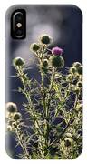 Glowing Thistle - 3 IPhone Case