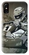 Go-kart Racing Grunge Monochrome IPhone Case