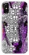 Goat - Pinky - Stone Rock'd Art By Sharon Cummings IPhone Case