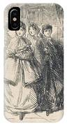 'going Out To Tea In The  Suburbs IPhone Case