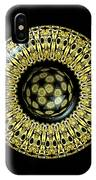 Gold And Black Stained Glass Kaleidoscope Under Glass IPhone Case