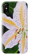 Gold Band Lily IPhone Case